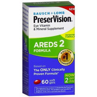 Bausch & Lomb PreserVision AREDS 2 Formula Eye Vitamin Soft Gels, 60 count