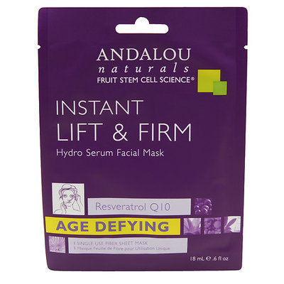 Andalou Naturals Instant Lift & Firm Hydro Serum Facial Mask, 0.6 Oz