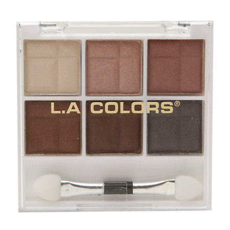 L.A. Colors 6 Color Eyeshadow, Earthy, .14 oz