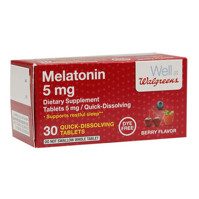 Walgreens Melatonin Quick Dissolve 5 mg Tablets Berry - 30 ea