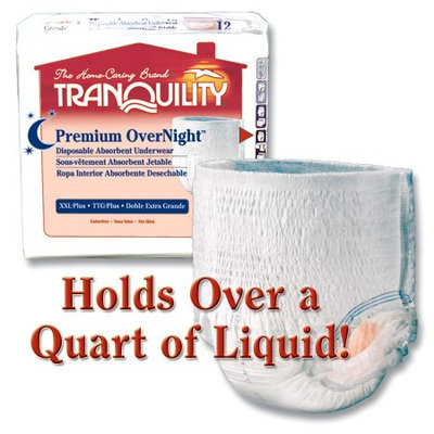 Principle Business Enterprises 2118 Tranquility Overnight Disposable Absorbent Underwear 2X-Large