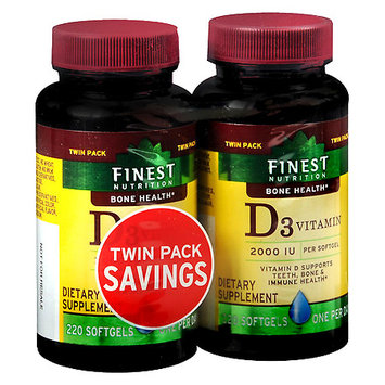 Finest Natural Vitamin D 2000 IU 2 pk