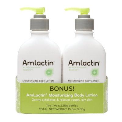 AmLactin Moisturizing Body Lotion Bonus Pack, 2 ea