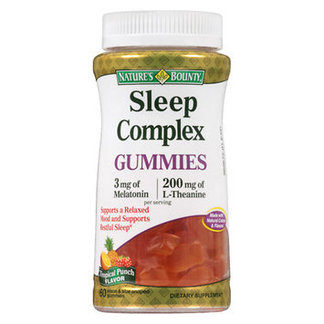 Nature's Bounty Sleep Complex 3 mg Melatonin/200 mg Gummies Punch