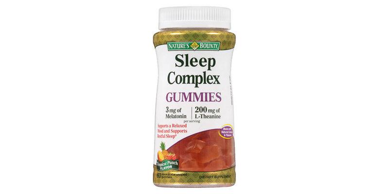 bounty sleep gummies complex nature natures melatonin mg