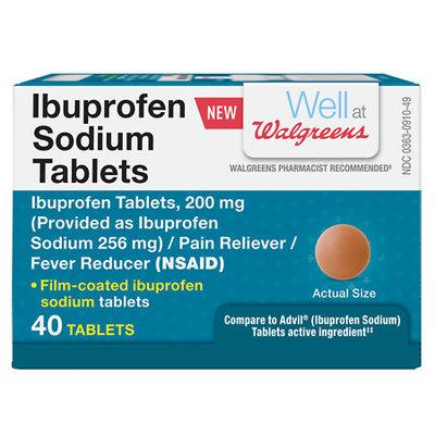 Walgreens Ibuprofen Sodium Tablets, 40 ea