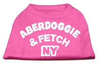 Mirage Pet Products 5101 MDBPK Aberdoggie NY Screenprint Shirts Bright Pink Med 12