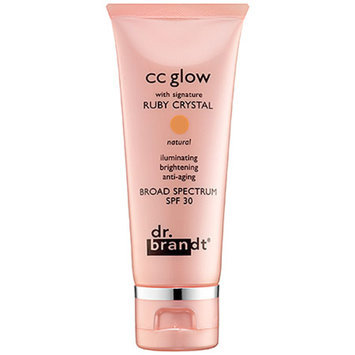 dr. Brandt CC glow with signature ruby crystal, light to medium, 1 oz