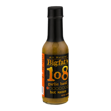 Bigfat's 108 Hot Sauce Garlic Basil