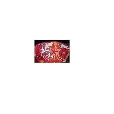 Clinique Red and Orange Flowered Makeup Bag