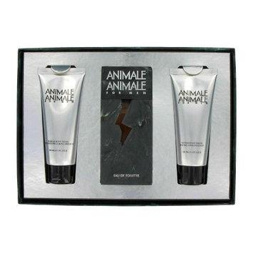 Animale Animale Gift Set - 3.3 Oz Eau De Toilette Spray + 3.4 Oz Aftershave Balm + 3.4 Oz Hair & Body Wash for Men