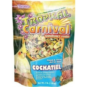 Fm Browns Sons Inc F.M. Brown's Tropical Carnival Gourmet Cockatiel Conure and Lovebird Food, 20-Pound