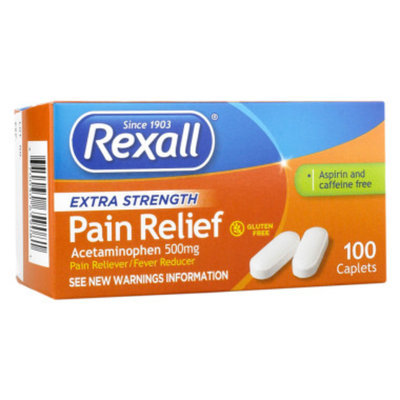 Rexall Extra Strength Pain Relief Caplets, 100 ct