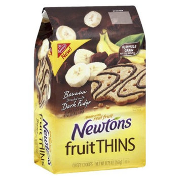 Newtons Fruit Thins Banana Dark Fudge Cookies 8.75 oz