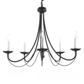 Gallery Versailles 5 Light Wrought Iron Chandelier