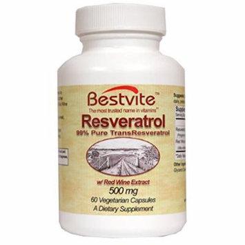 Resveratrol 99% 500mg (60 Vegetarian Capsules)