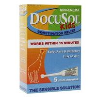 Docusol Kids Constipation Relief, Mini Enema, 5 ea