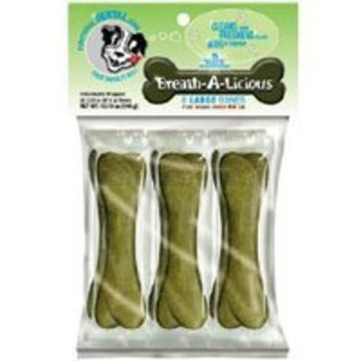 Dancing Paws Breath-A-Licious Bone-Large 6 Pack, 13.8-Ounce (Pack of 2)