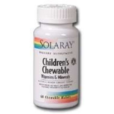 Solaray Children's Chewable Vitamins and Minerals Supplements, 60 Count