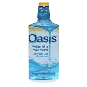 Oasis Moisturizing Mouthwash for Dry Mouth Mild Mint