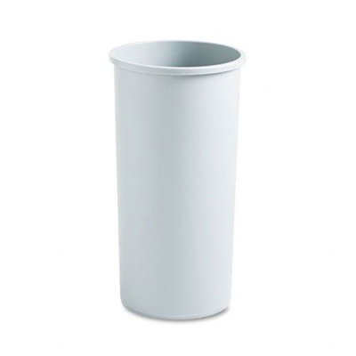 Rubbermaid Commercial Untouchable Waste Container, Round, Plastic, 22 gal, Gray