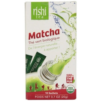 Rishi Tea Matcha Japanese Green Tea Powder, 10 packets