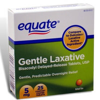 Equate - Gentle Laxative, Delayed-Release, 25 Tablets (Compare to Dulcolax)