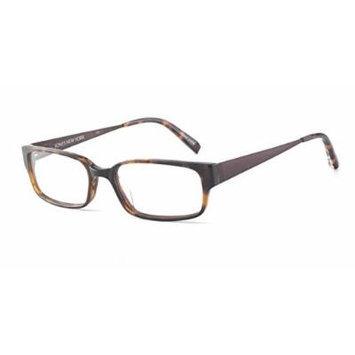 Jones New York Eyewear Mens Rectangle Tortoise Plastic Frame J510