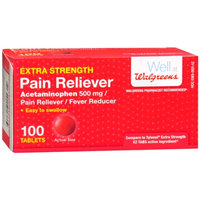 Walgreens Pain Reliever Extra Strength Easy Tablets, 100 ea