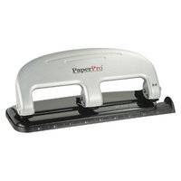 Accentra Inc. PaperPro 20 Sheet Capacity Three-Hole Punch - Black/Silver