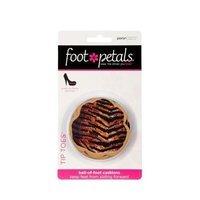 Foot Petals Tiger/Zebra/Leopard Combo Safari Tip Toes, Triple Pack
