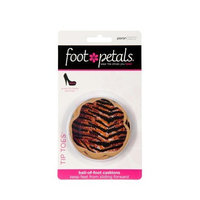 Foot Petals Tiger/Zebra/Leopard Combo Safari Tip Toes, Triple Pack