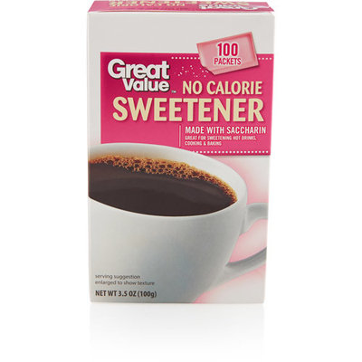 Great Value No Calorie Sweetener Packets, 100ct