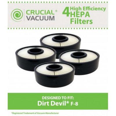 Crucial Vacuum 4 Dirt Devil F8 HEPA Filters, Part # 3UD0280001, 3-UD0280-001
