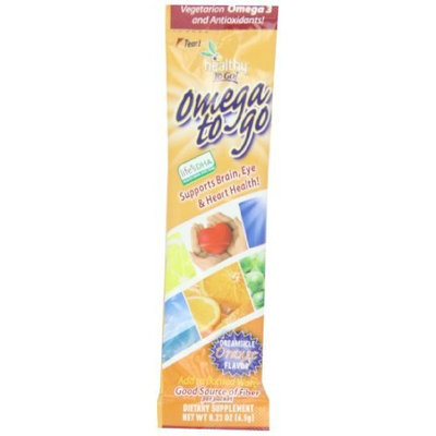 To Go Brands Healthy To Go, Omega To Go, Creamsicle Orange flavor, 5.5-Ounce Box
