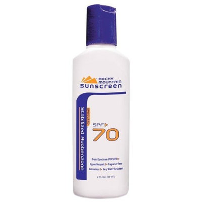 Rocky Mountain Sunscreen 10007 2 oz SPF-70 Enhanced UVA with Avoguard Pack of 4