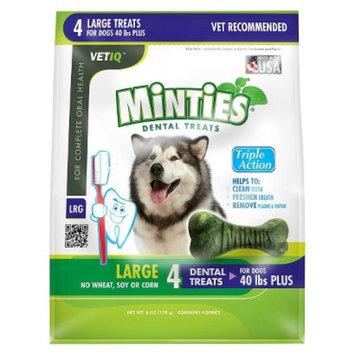VetIQ Minties Dental Bone Pet Treat for Dogs - 6 Oz (L)