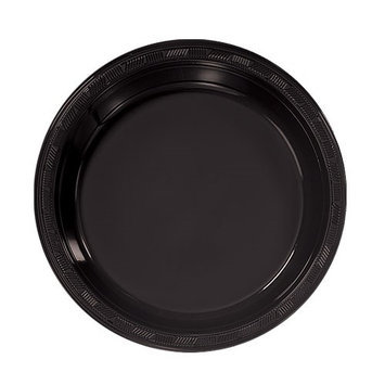 Hanna K Signature Hanna K. Signature 81070 7 in. Black Plastic Plate - 600 Per Case