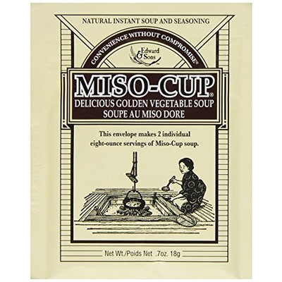 Edward & Sons Miso-Cup Original Golden Vegetable Soup, 2-Serving Envelopes (Pack of 24)