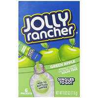 Jolly Rancher Singles-To-Go Sugar Free Green Apple Drink Mix, 6-ct (Pack of 6)
