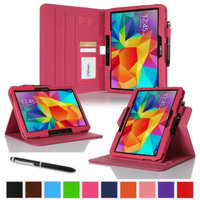 rooCASE Samsung Galaxy Tab 4 10.1 SM-T530 Tablet Case - Dual View Multi-Angle Stand Cover with Pen Stylus for Tab4 10-Inch 10.1