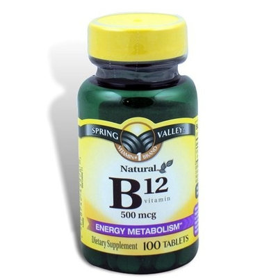 Spring Valley - Vitamin B-12 500 mcg, 100 Tablets