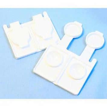 5Pc Zink Color White Travel & Disposable Contact Lens Case Easy Snap Closure