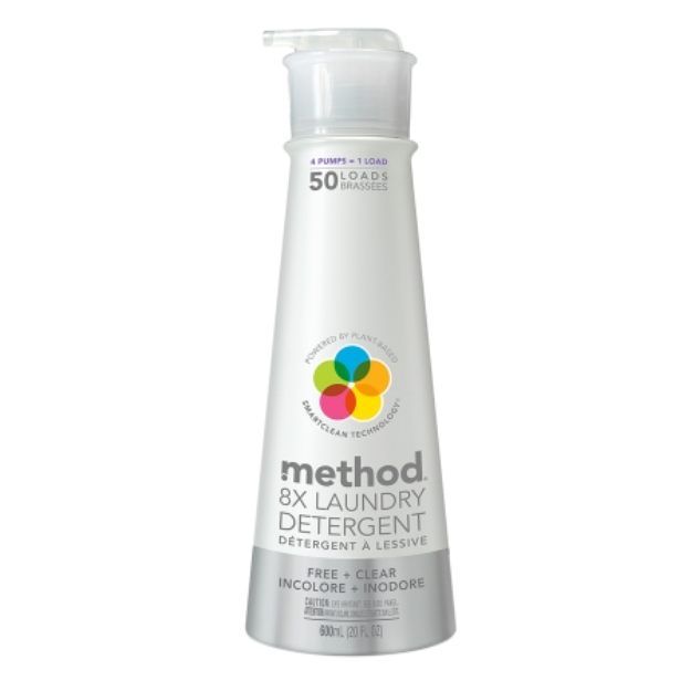 Method Free and Clear High Efficiency Laundry Detergent 20 oz