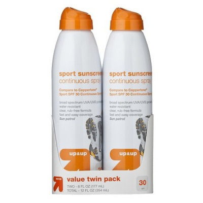 up & up Sport Sunscreen Continuous Spray SPF-30 Sport - Twin Pack