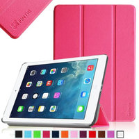 Fintie Ultra Slim Stand Cover SmartShell Case for Apple iPad Air iPad 5, Magenta