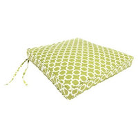 Jordan Outdoor Seat Cushion - Green/White Geometric 19