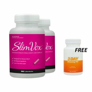 Slimvox 2 Pack and 1 Free 3 DSP - Diet Pills Designed for Women - Clinically Tested Ingredients - Boost Metabolism