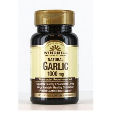 Windmill Garlic Oil 1000 mg Softgels 100 Soft Gels