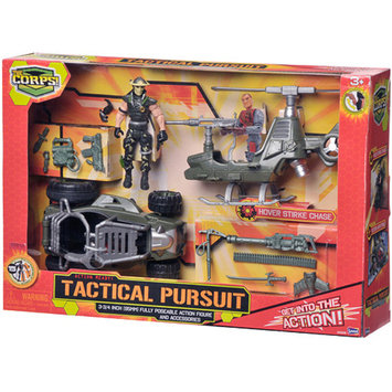 The Corps Tactical Pursuits Set with Helicopter Ages 3 +, 1 ea